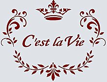 A5Schablone, Shabby Chic, Französisch, Möbel, Stoff, Glas, * NEW dicker 190mikron wiederverwendbar Mylar * (128)