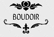 A5Schablone, Shabby Chic, Französisch, Möbel, Stoff, Glas, wiederverwendbar (6)