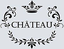 A5Schablone, Shabby Chic, Französisch, Möbel, Stoff, Glas, wiederverwendbar (48)