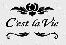 A5Schablone, Shabby Chic, Französisch, Möbel, Stoff, Glas, wiederverwendbar (24)