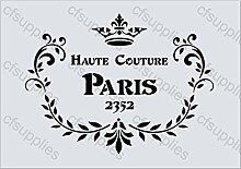 A5 Schablone Shabby Chic Vintage, Frankreich, Möbel, Stoff, Glas, wiederverwendbarem Mylar (78)
