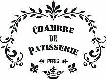 """A5 Schablone Shabby Chic Vintage, Frankreich, Möbel, Stoff, Glas, wiederverwendbar (75) """"Patisserie"""" Mylar"""