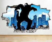 AA009 Cartoon City Monster Attack Zertrümmert