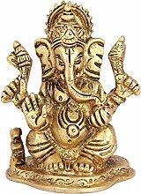 aadaa Ganesha Messing Figur 14,2x 17,4x