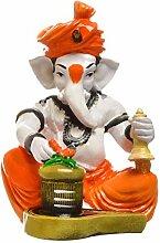 aadaa Musical Ganesha Polyresin Figur, Polyresin,