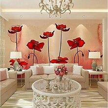 AAHHZ Pflanzliche rote Blumen, pastorale