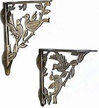 Aakrati Glasregal, mit Vögeln, für Zuhause oder