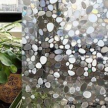 AAPLUS- 45 x 200cm 3D Selbstklebend Fensterfolie Sichtschutzfolie Sonnenschutzfolie Statisch Folie Anti-UV für Badezimmer, Büro , Glas Fenster, Scheiben, Küche Window Film Ohne Kleberstoff