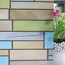 AAPLUS- 90 x 300cm Selbstklebend Fensterfolie Sichtschutzfolie Sonnenschutzfolie Statisch Folie Anti-UV für Badezimmer, Büro , Glas Fenster, Scheiben, Küche Window Film Ohne Kleberstoff