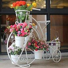 aasdf Eisen Fahrrad Metall Pflanze Blumenständer,