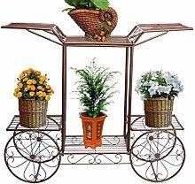 aasdf Metall Blumenwagen Rack Display Gartenbaum
