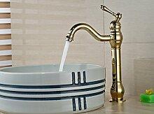 Aawang Kurze Deck Montiert Waschen Golden Brass