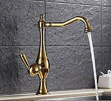 Aawang Luxus Gebürstetes Nickel/Gold Küche