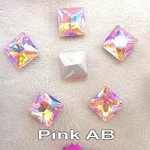 AB Farben 8mm 10mm 12mm Fancy Square Form Kleben