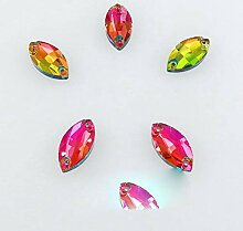 AB Farben Glas Kristall Flatback Navette