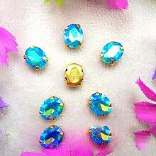 AB Farben Gold Klauenfassungen 7 Größen ovale