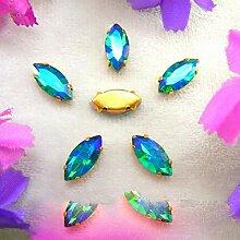 AB Farben Gold Kralle Einstellungen 8 Größen
