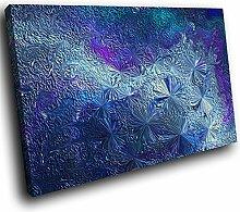 AB1726A gerahmte Leinwanddruck Bunte Wand-Kunst - Blau Teal Lila SPink - modernes abstraktes Wohnzimmer Schlafzimmer Bild Stück Wohnkultur Interior Design Einfach Hang Guide (30x20cm)