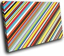 AB379A gerahmte Leinwanddruck Bunter Wand-Kunst - Bunt Cool Funky - modernes abstraktes Wohnzimmer Schlafzimmer Bild Stück Wohnkultur Interior Design Einfach Hang Guide (30x20cm)
