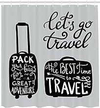 Abakuhaus Abenteuer Duschvorhang, Pack die Taschen