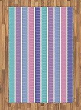 Abakuhaus Abstrakt Teppich, Tupfen mit Streifen,