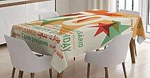ABAKUHAUS Abstrakt Tischdecke, Glückwunsch zum