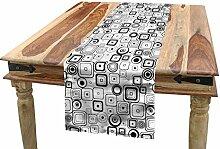 ABAKUHAUS Abstrakt Tischläufer, Vintage Quadrate