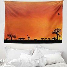 ABAKUHAUS Afrika Wandteppich und Tagesdecke,