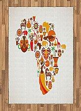 Abakuhaus afrikanisch Teppich, Karte mit