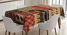 ABAKUHAUS afrikanisch Tischdecke, Patchwork-Stil