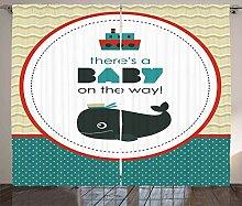 ABAKUHAUS Ahoy Its a Boy Rustikaler Vorhang, Das