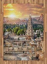 ABAKUHAUS altertümlich Teppich, Turm Tempel bei