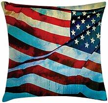 ABAKUHAUS Amerikanische Flagge Kissenbezug, Wind