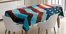 ABAKUHAUS Amerikanische Flagge Tischdecke, Wind