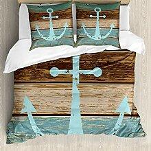 ABAKUHAUS Anker Bettwäsche Set für Doppelbetten,