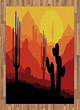 ABAKUHAUS Arizona Teppich, Kaktus Silhouetten in