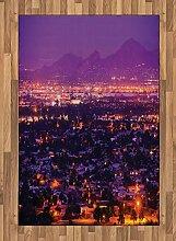 ABAKUHAUS Arizona Teppich, Nacht Panorama von