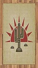 ABAKUHAUS Arizona Teppich, Tribal Saguaro und Sun,