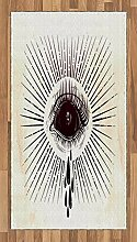 ABAKUHAUS Augapfel Teppich, Motiv mit Träne und