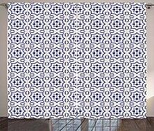 ABAKUHAUS Azulejo Rustikaler Gardine,