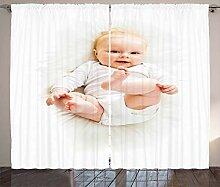 ABAKUHAUS Baby Rustikaler Vorhang, Schöne Baby