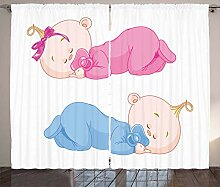 ABAKUHAUS Baby Rustikaler Vorhang, Zwei