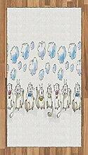 ABAKUHAUS Baby Teppich, Katzen sitzen mit