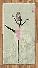 ABAKUHAUS Ballett Teppich, Afro-Mädchen mit