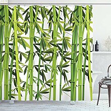 ABAKUHAUS Bambus Duschvorhang, Asian Frische