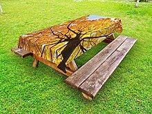 ABAKUHAUS Baum Outdoor-Tischdecke,