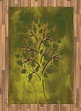 ABAKUHAUS Baum Teppich, Kleiner Baum mit gelapptem