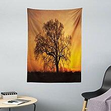 ABAKUHAUS Baum Wandteppich Baum Abbildung im