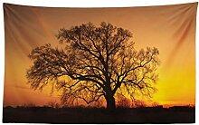 ABAKUHAUS Baum Wandteppich und Tagesdecke Baum