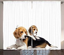 ABAKUHAUS Beagle Rustikaler Vorhang, Nettes